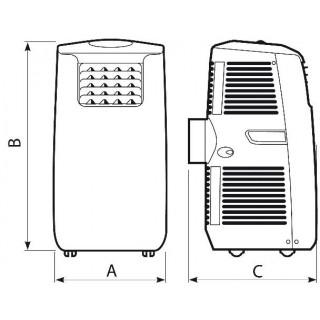 Climatiseur mobile monobloc VORT-KRYO Polar 10 Vortice CM3000