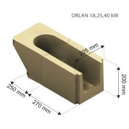 Ceramique cendrier  pour chaudiere Orlan extracteur