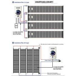 Film carbone chauffant mur et plafonds