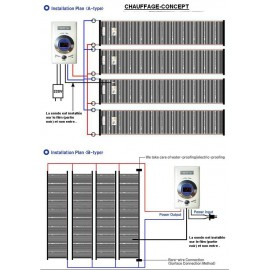 Film carbone chauffant à rayonnement infrarouge